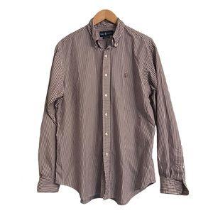 Mens Ralph Lauren striped classic fit polo shirt